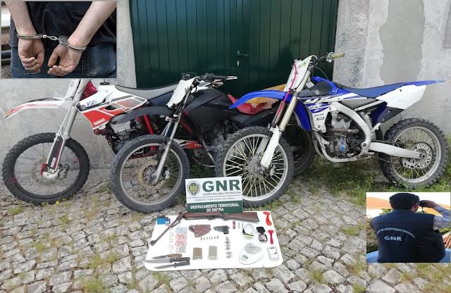 GNR detém em Cascais dupla que furtou motociclos em stand de Sintra