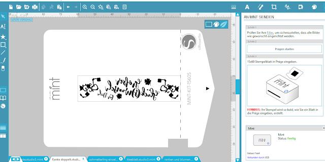 Screenshot Mint Studio: Auftragsansicht