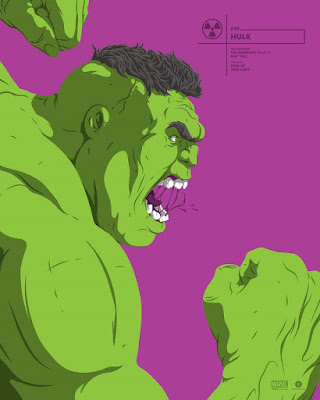 The Incredible Hulk Marvel Faceoffs Portrait Screen Print by Florey x Grey Matter Art