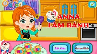 Game Anna nướng bánh hay