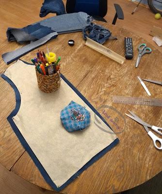 kurtka jeansowa DIY ze spodni upcykling