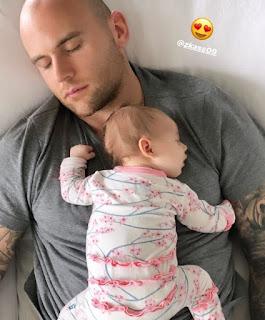 Zack Kassian With His Newborn Daughter