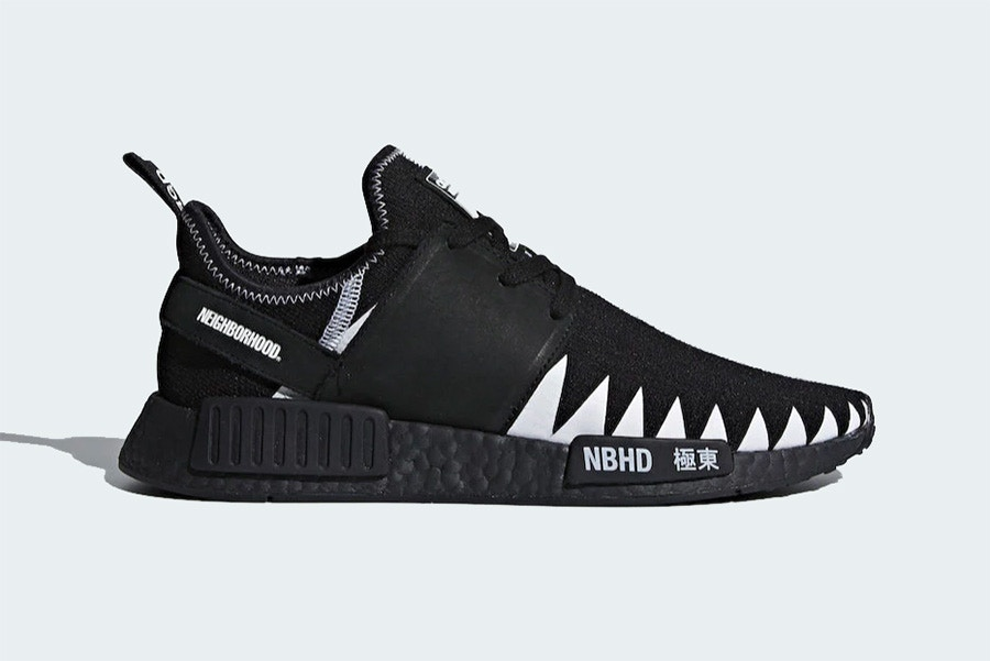 8f902d9ac Japanese streetwear giant NEIGHBORHOOD and adidas Originals join forces  once more for a mean-looking NMD R1 model. The bold black and white sneakers  were ...