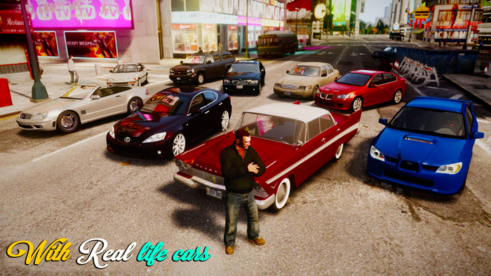 GTA IV All New 2021 Best Cars Replace Pack   100 + Cars GTA 4 Mod