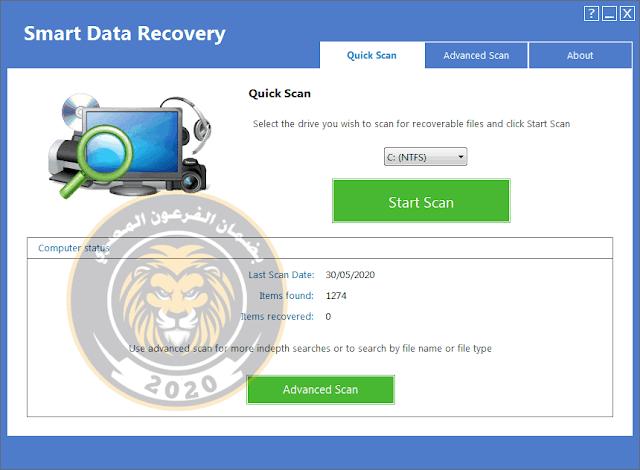برنامج راع جدا Smart NTFS Recovery لاعادة جميع الملفات المحذوفة بعد الفورمات وقبل الفورمات