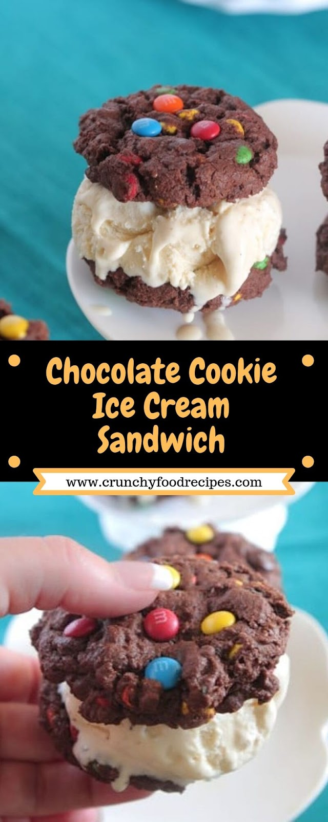 Chocolate Cookie Ice Cream Sandwich