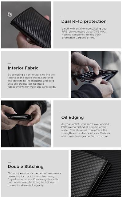 Carbon Fibre and Italian leather wallet hits Kickstarter