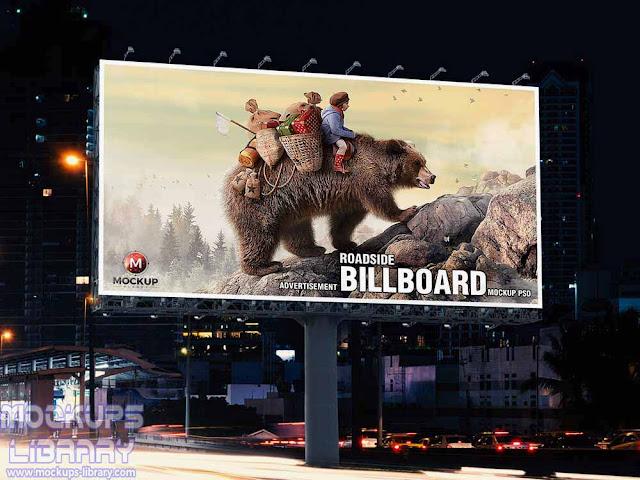 free advertisement billboard mockup