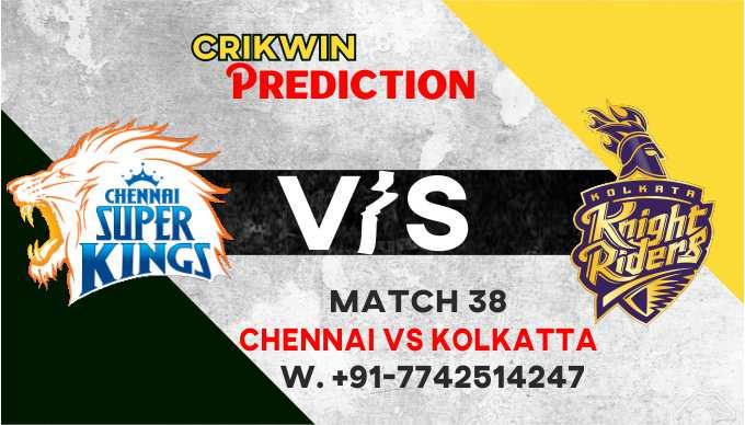 Kolkatta vs Chennai IPL T20 38th Match Today 100% Match Prediction Who will win - Cricfrog