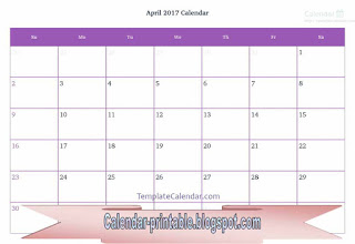 Free Printable Calendar April 2017