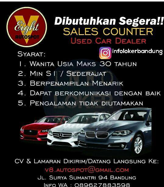 Lowongan Kerja V Eight Autospot Bandung September 2017