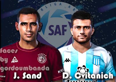 PES 2020 Faces José Sand & Darío Cvitanich by Gordoumbanda