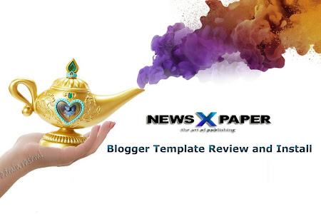 Newspaper 10 Blogger Template Review and Install