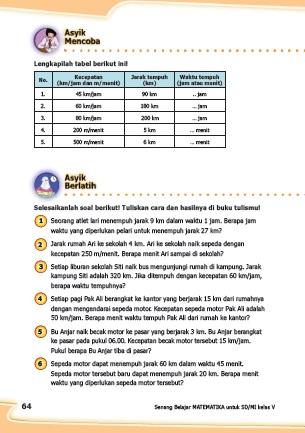 kunci jawaban senang belajar matematika kelas 5