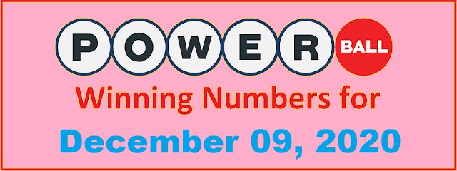 PowerBall Winning Numbers for Wednesday, December 09, 2020