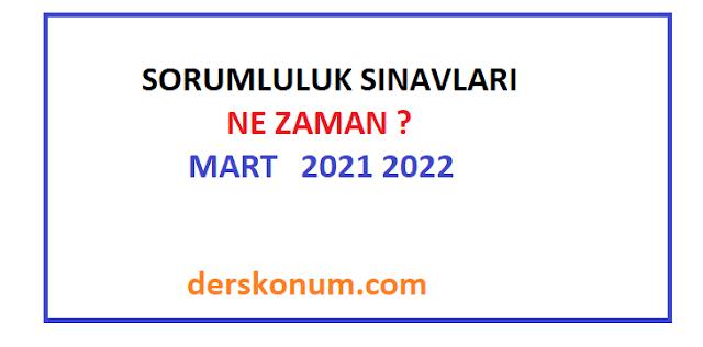 SORUMLULUK SINAVLARI NE ZAMAN 2021 2022