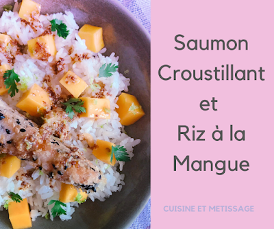sauon croustillant riz mangue