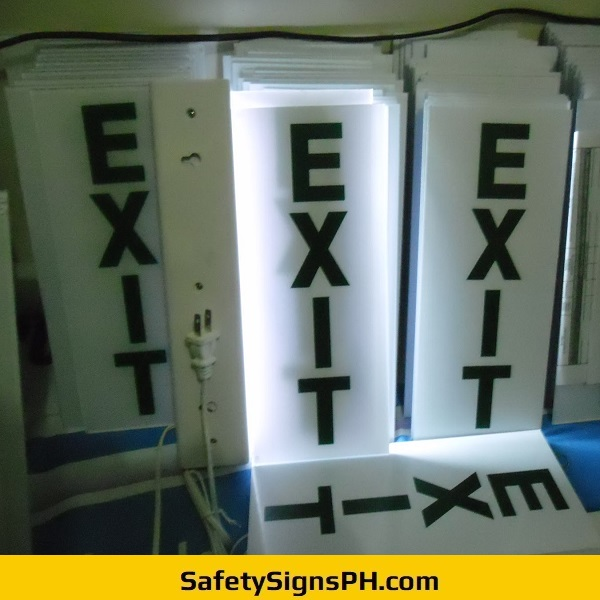 Lighted Acrylic Emergency Exit Signs