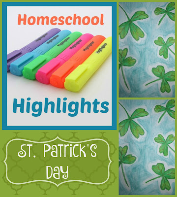 Homeschool Highlights - St. Patrick's Day on Homeschool Coffee Break @ kympossibleblog.blogspot.com #HomeschoolHighlights #homeschool