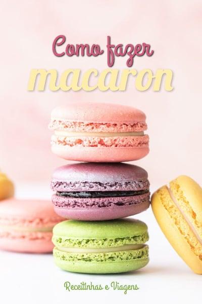 Receita de macaron (macarron)
