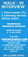 Walk In Interview at Kantor JDM Cleaning Service Surabaya Juli 2020