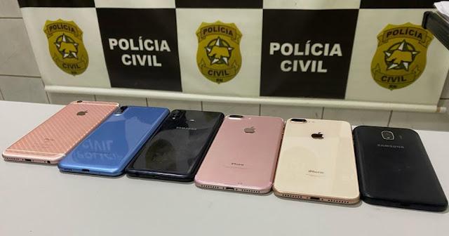 Polícia Civil recupera seis aparelhos celulares durante operação em Mossoró, RN