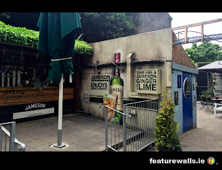 JAMESON WHISKEY MURALS HAND PAINTED BY FEATUREWALLS.IE