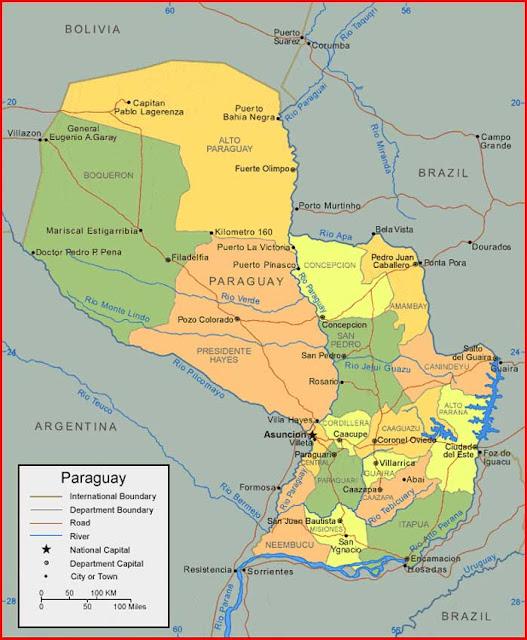Gambar Peta Paraguay