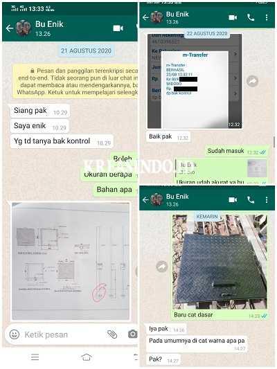 Tutup Bak Kontrol Besi pesanan Bu Enik Surabaya