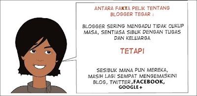 Blogger Tegar - Sesibuk mana pun tetap ada masa aktiviti di media sosial!