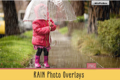 Backgrounds and Overlays - Creative Market - Realistic Rain Photo Overlays - 3586814 [PNG]