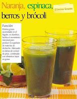 Jugos saludables naranja espinaca berros y brocoli