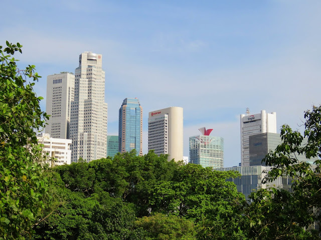 Singapore skyline views from Fort Canning Park