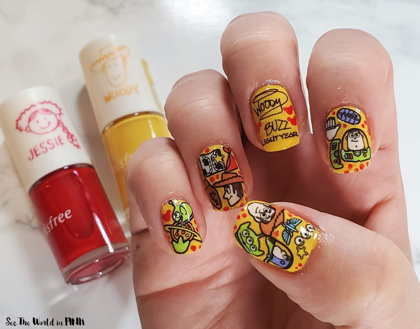 Disney Toy Story Nails with Innisfree Real Color Toy Story Edition Nail Set