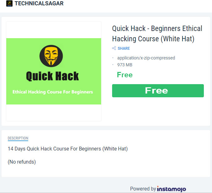 Technical Sagar Quick Hack Course Free Download | Abhishek Sagar