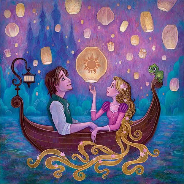 Jeremiah Ketner Disney Tangled Painting