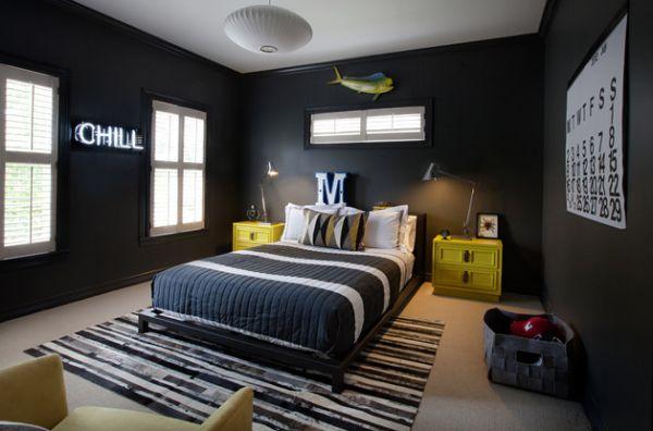 غرفة نوم اطفال لون رمادي غامق