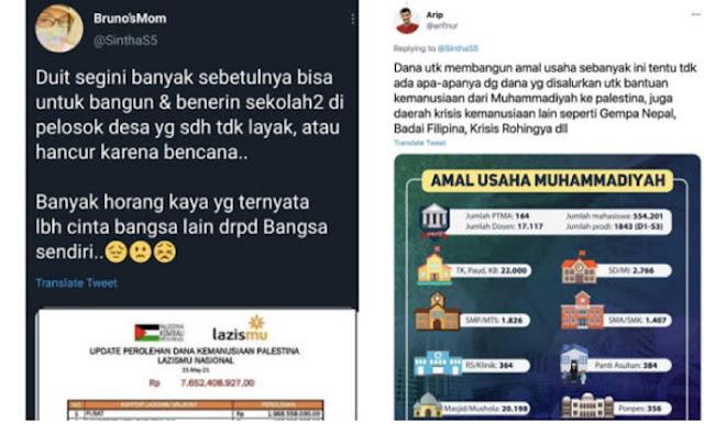 Nyinyiri Muhammadiyah yang Nyumbang Rp 7 M ke Palestina, Wanita Ini Menghilang dari Twitter