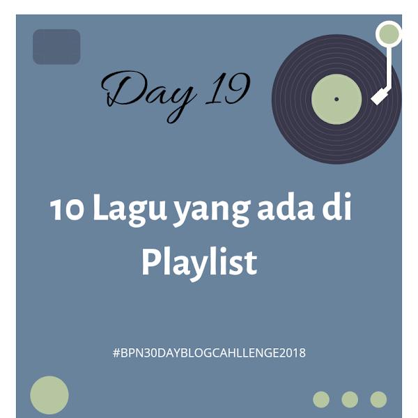 10 Lagu yang ada di playlist