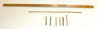 Original stirring stick, long horizontal fence support, upright individual pickets