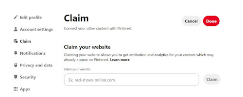 How to claim your free Website of wordpress on pinterest, traffic pinterest ads