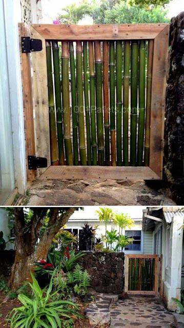 Gerbang taman dari bambu