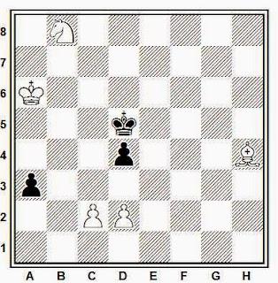 Estudio artístico de ajedrez compuesto por Leonid Kubbel (1922)