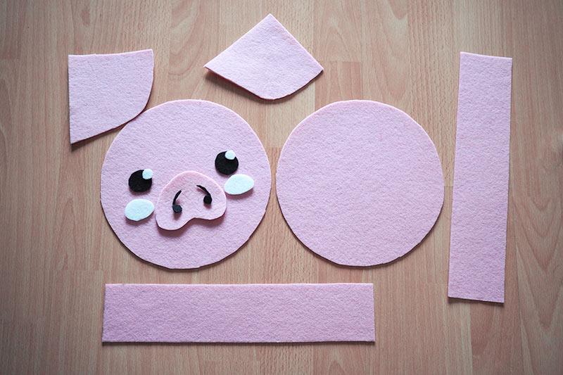 KuneCoco • Schweinetasche aus Filz • Filz zuschneiden