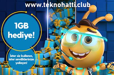 Turkcell Hediye Havuzu Bedava 1GB İnternet - 2020