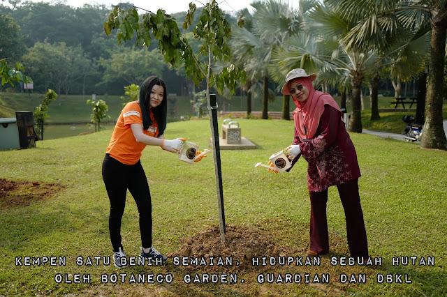 Kempen Satu Benih Semaian, Hidupkan Sebuah Hutan Oleh Botaneco Garden & Guardian dengan kerjasama Dewan Bandaraya Kuala Lumpur Memperlihatkan 25 Pokok Hutan Hujan Khatulistiwa Ditanam Di Taman Antarabangsa Bukit Jalil
