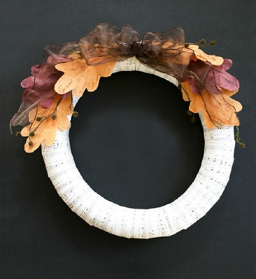 dollar store autumn wreath