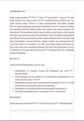 Contoh proposal 17 Agustus HUT RI