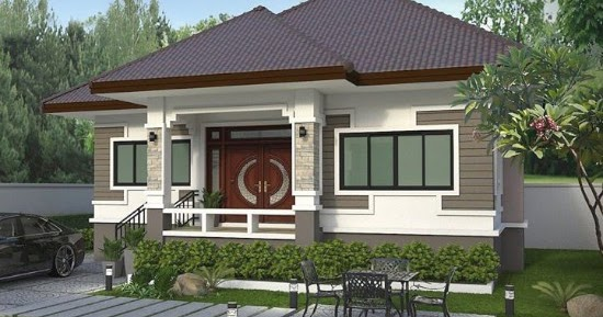 Lingkar Warna Desain Rumah Atap Limas Dengan 3 Kamar Tidur