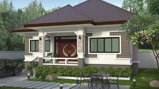 LINGKAR WARNA: Desain Rumah Atap Limas Dengan 3 Kamar Tidur